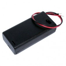 BH5 Battery Box With Detachable Clip Fit Lid for 2AA Batteries, Black ABS Casing