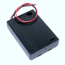 BH4 Battery Holder With Detachable Clip Fit Lid for 3x AA Batteries, Black ABS