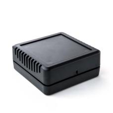KE123-B Room Sensor Enclosure with Side Vents, Black, 75 x 75 x 30MM