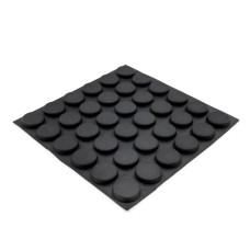 RF14 Self-Adhesive Rubber Feet - Sheet of 36, 19.8 x 5.0MM