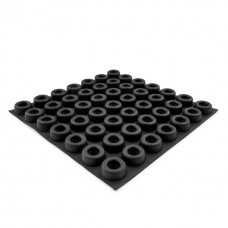 RF04X Self-Adhesive Recessed Rubber Bumper 22.1 x 9.8MM - Sheet of 49