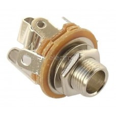 JS23 Stereo Jack Socket Panel Mounting Connector, 6.35MM