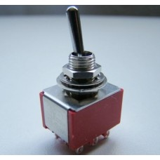 SW23  3PDT Three Pole Miniature Flick Toggle Switch On-On Double Throw Panel Mount