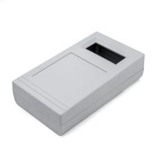 KE49-G Project Box with Window Opening, Light Grey, 143 x 80 x 36.5MM