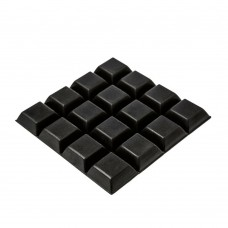 RF11 Black Square Rubber Feet 20.5 x 7.6 MM - Sheet of 16