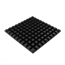 RF02 Square Rubber Stoppers, Sheet of 100, 12.7 x 6.0MM