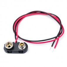 CC3 Side Entry PP3 9V Battery Connector Clip Snap For Heavy Duty Applications, 150MM Wire Leads