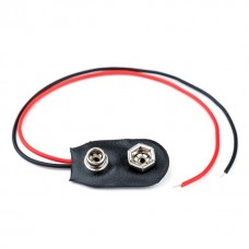 CC1 PP3 9V Battery Connector Clip PP3 9V, 150MM Wire Leads