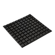 RF07 Black Square Rubber Feet 12.7 x 12.7 x 3.5MM - Sheet of 100