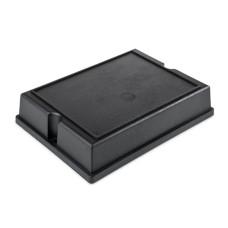 KE29-B Two Part Wall Mountable Plastic Enclosure, Black, 132.0 x 98.0 x 29.0MM