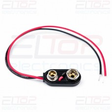 CC2 Heavy Duty PP3 9V Battery Connector Clip, 150MM Wires
